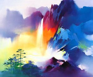 art, colours, and painting image