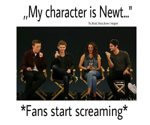 cast, newt, and thomas sangster image