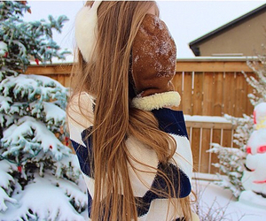 winter, snow, and tumblr image