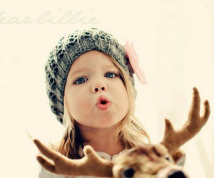adorable, baby, and deer image