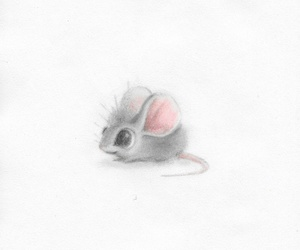 art, mouse, and drawing image