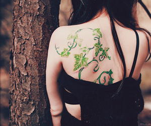 black hair, girl, and tattoo image