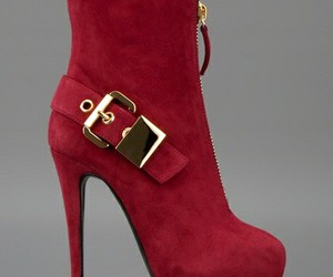 fashion, plum, and boots image
