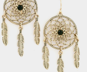 black, dream catcher, and earrings image
