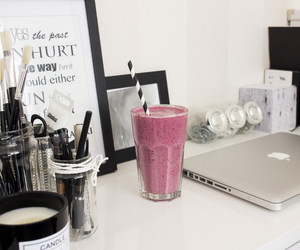 apple, smoothie, and drink image