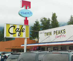 cafe, cherry pie, and david lynch image
