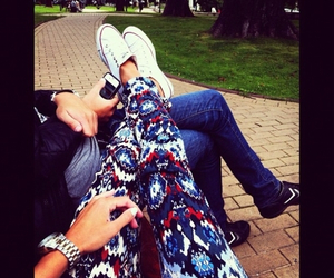 converse, couple, and fashion image