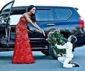 love, dress, and car image
