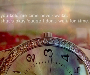 time and text image