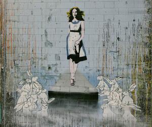 street art, graffiti, and alice in wonderland image