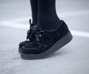 black, creepers, and goth image