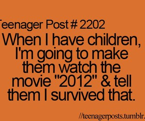 teenager post, funny, and 2012 image