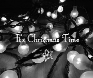 black and white, christmas, and time image