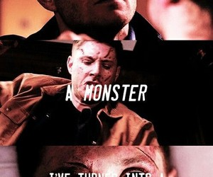 dean winchester, monster, and spn image