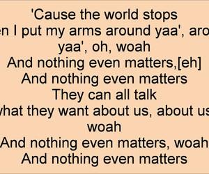 Lyrics, matters, and nothing image