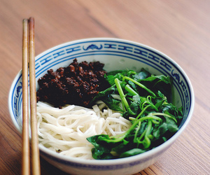 noodles and spinach image