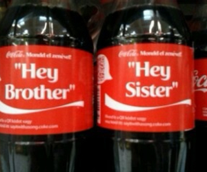 brother, coke, and sister image