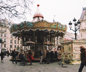 autumn, carousel, and happy image