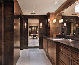 luxury, house, and bathroom image