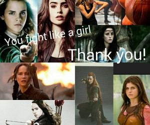 hermoine granger, clary fray, and fangirl image
