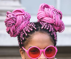 hairstyle and pink image