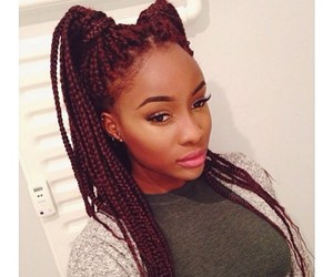 hair and box braids image