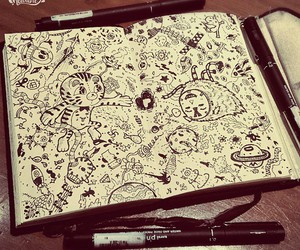 doodle, drawing, and fun image