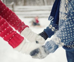 gloves and snow image