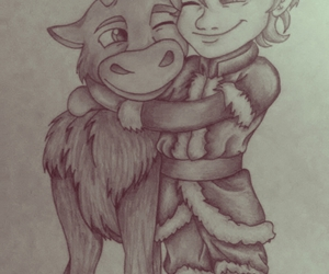 drawing, frozen, and sven image