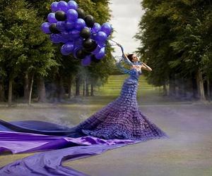 beatiful, dress, and lilac image