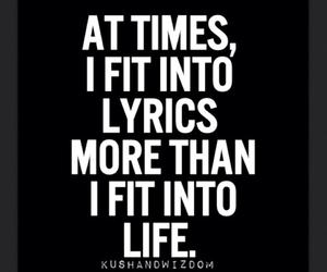 quotes, music, and Lyrics image