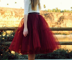 skirt, red, and tulle image