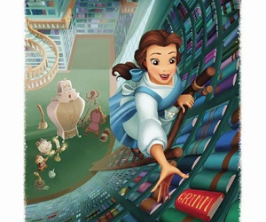 beauty and the beast, books, and disney image