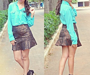beauty, casual, and skirt image
