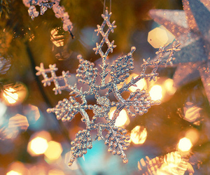 christmas, snowflake, and light image