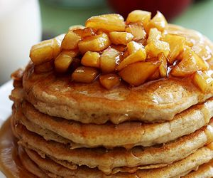 pancakes, food, and apple image