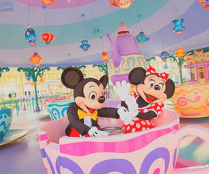 disney, minnie, and disneyland image