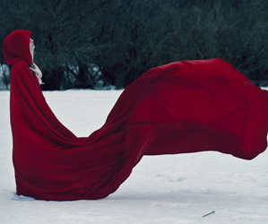 red, snow, and tumblr image
