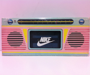 nike, pink, and radio image