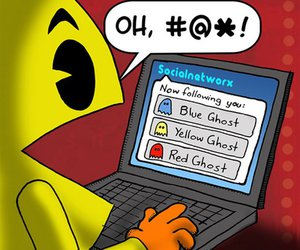 pacman, funny, and twitter image