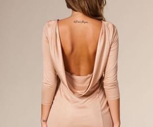 dress, girl, and tattoo image