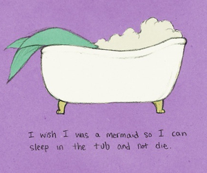 mermaid, quotes, and sleep image