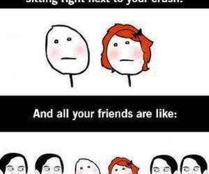 crush, friends, and funny image
