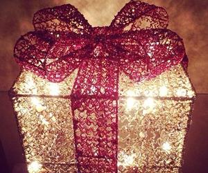 gift, christmas, and light image