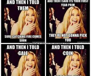 funny, Jennifer Lawrence, and katniss image