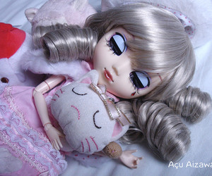 doll, pullip, and hello kitty image
