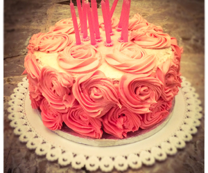 cake, lovely, and pink image