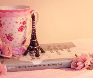 book, paris, and pink image