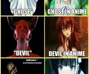 anime, Devil, and ghost image