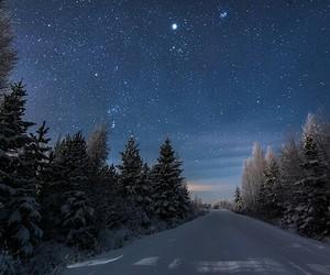 stars, night, and winter image